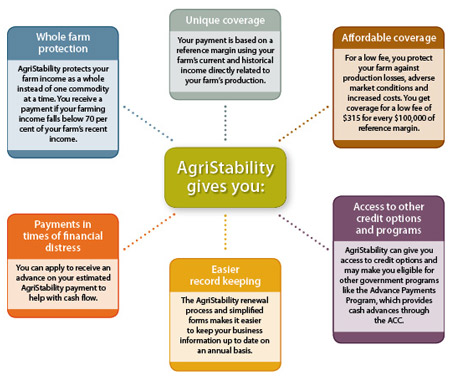 A visual representation of AgriStability benefits